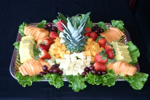 fruit and cheese tray (catering only)